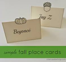 printable place cards simple and fancy fall place cards free printable charisa