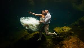 underwater trash the dress dean sanderson weddings
