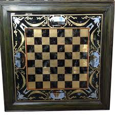 Glass Chess Boards Reverse Painted Glass Framed Checker Or Chess Board From