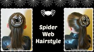 spider web bun hairstyle for halloween youtube