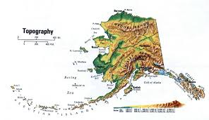 Map Of Anchorage Alaska by Large Topography Map Of Alaska State Alaska State Usa Maps