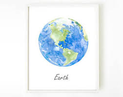 Earth Home Decor by Earth Print Etsy