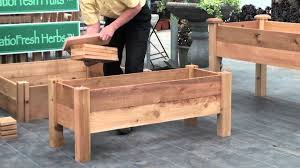 Wooden Planter Box Plans Free by How To Build A Simple Elevated Garden Bed With Louis Damm