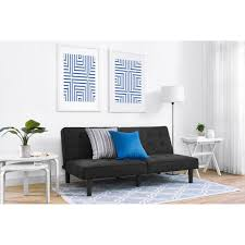 Microfiber Futon Couch Mainstays Arlo Futon Multiple Colors Walmart Com