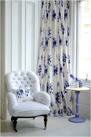 Blue Floral Curtains White Chair With Lovely Blue Floral Curtain Blue White Home 2