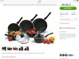 batterie de cuisine induction poign馥 amovible 33 images poign