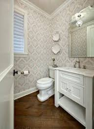 Small Bathroom Wallpaper Ideas Colors Art Deco Inspiration Love This For The Small Bathroom Or Under