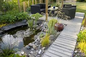 garden ideas garden pond design with small waterfalls and stoned