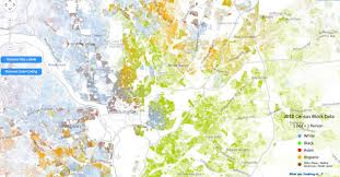 Washington Dc Maps Incredibly Detailed Map Shows Race Segregation Across America In