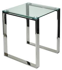 Amazon Com Cortesi Home Remi Contemporary Square Glass End Table