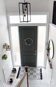 Entry Shoe Storage by Diy Split Level Entry Makeover I Love This Entry The Oversize