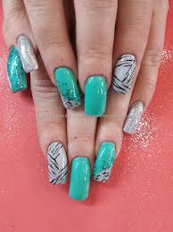 eye candy nails u0026 training mint green and silver gel polish with