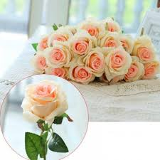artificial flowers for home decoration chagne 10 branch silk chagne roses wedding party decoration