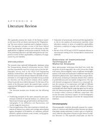 appendix e literature review evaluating applications of field