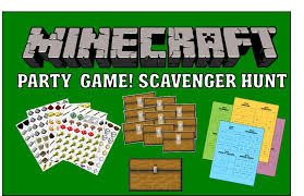 minecraft party minecraft party printable scavenger hunt