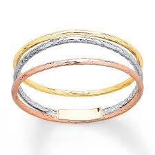 gold color rings images Kay spiral ring 14k tri color gold jpg