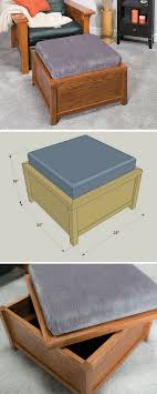 Diy Storage Ottoman Plans How To Build A Diy Storage Ottoman Free Printable Project Plans