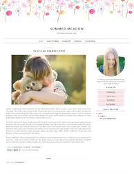 blogger template responsive simple clean floral blog design