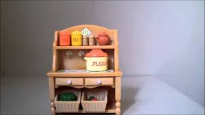 sylvanian families country kitchen set review youtube