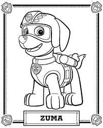 paw patrol coloring pages getcoloringpages