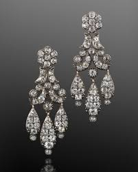 girandole earrings 19th century diamond floral motif girandole pendant earrings