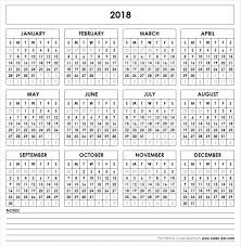 printable calendar of 2018 get free blank template of year 2018 printable calendar these