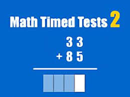math timed tests