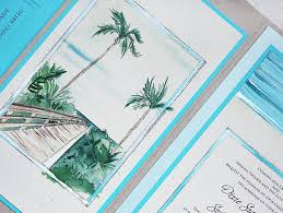 palm tree wedding invitations a week at the painted palm tree wedding invitation