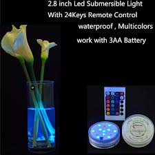 Led Vase Base Light 4pcs Lot Free Shipping Best Quality Submersible Tea Light Led