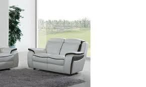 canapé 2 places relax cuir canape cuir 2 places relax en cuir blanc et noir detroit hcommehome
