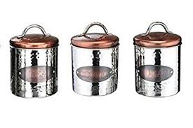 kitchen storage canisters vintage copper tea coffee sugar jars kitchen storage