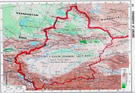 Geographical Map Of China by Topography Maps Of Xinjiang