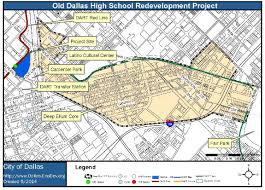 Dart Map Dallas by Old Dallas High Redevelopment Project Going To Council