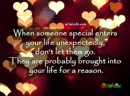 someone special enters your