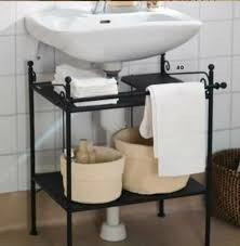 Bathroom Pedestal Sink Ideas Creative Sink Storage Ideas Creative Pedestal And Sink