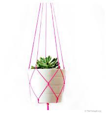 Simple Macrame Plant Hanger - simple modern macrame plant hanger 42 inches