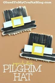 popsicle stick pilgrim hat kid craft pilgrim crafts and