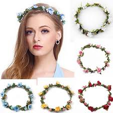 flower headbands bohemian hair crowns flower headbands women artificial floral