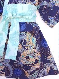 kimono dress blue dragon yukata modern kimono girls baby toddler