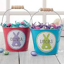 personalized easter buckets personalized easter gifts personalizationmall