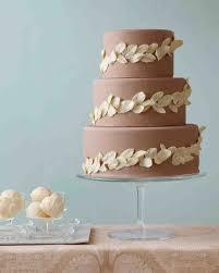 11 diy wedding cake ideas that will transform your tiers martha chocolate leaf wedding cake