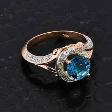 blue rose rings images Best blue topaz diamond engagement rings products on wanelo jpg