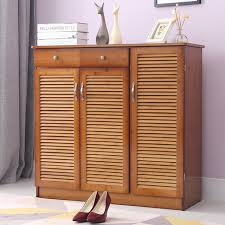shoe cabinet with drawer modern multi layer shoe cabinet with 3 doors 2 drawers bamboo