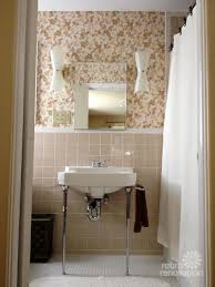 Beige Tile Bathroom Ideas Colors New Vintage Wallpaper And Lighting For Pam U0027s Bathroom Beige
