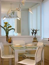 Living Room With Dining Table by Decorating With Mirrors Hgtv