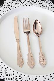 plastic cutlery sale 120 faux copper cutlery plastic forks spoons knives