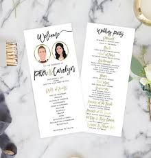 ceremony programs wedding ceremony programs with wedding party portraits