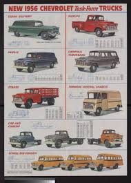 Vintage Ford Truck Brochures - 1956 gmc work trucks foldout brochure poster special collections