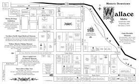 Montana Map With Cities And Towns by Historic Wallace Idaho Homepage