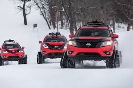 nissan pathfinder vs rogue nissan u0027s winter warrior concepts take the fight to mother nature